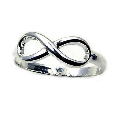 Infinity Sterling Silver Ring Size 5 3/4 Z441 - The Silver Plaza