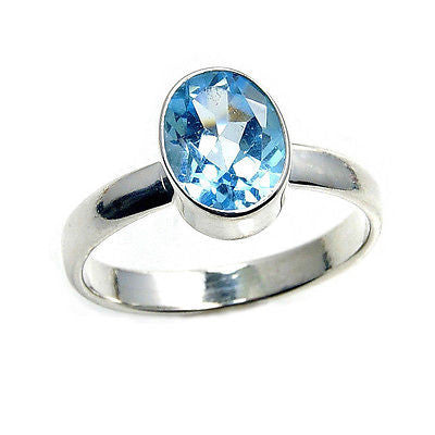'Blue Sky' Blue Topaz & .925 Sterling Silver Ring - The Silver Plaza