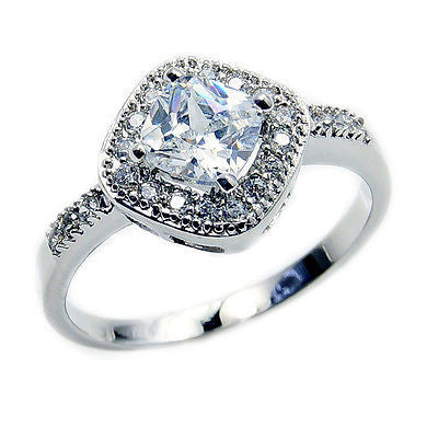 'Ice Princess' Clear Cubic Zirconia & .925 Sterling Silver Ring Size 6.75 - The Silver Plaza