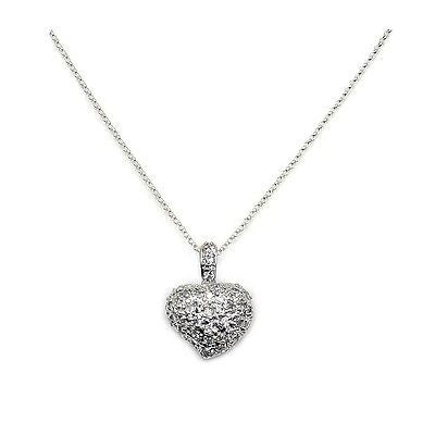 Heart of Romance & .925 Sterling Silver  Necklace - The Silver Plaza