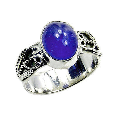 Tanzanite & .925 Sterling Silver Ring Size 6 - The Silver Plaza