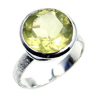 Citrine & .925 Sterling Silver Ring Size 8.75 - The Silver Plaza