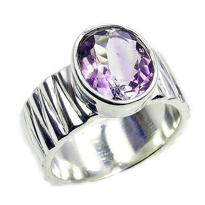Amethyst & .925 Sterling Silver Ring Size 9 X988 - The Silver Plaza