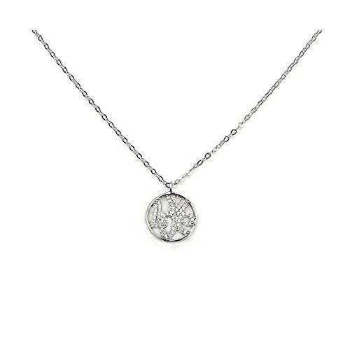 'Love Promise' Sterling Silver & Cubic Zirconia Necklace - The Silver Plaza
