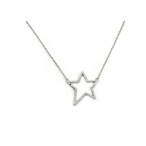 'Rock Star' Sterling Silver Cubic Zirconia Necklace - The Silver Plaza