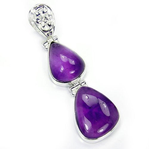 Violet Dreams' Sterling Silver Amethyst Pendant - The Silver Plaza