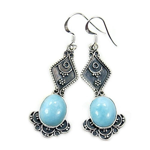 blue round silver gemstone dangle high stone preciosa for bezel watches overstock sterling jewelry cat la natural larimar set less polish earrings
