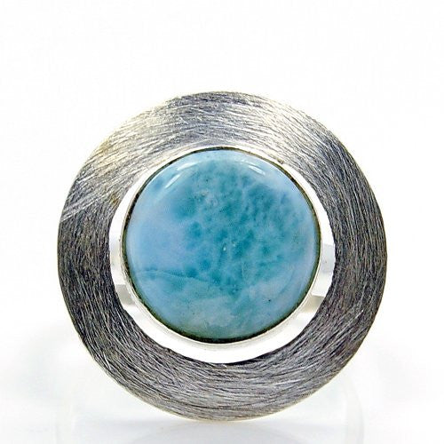 'Divine Beauty' Sterling Silver Larimar Ring, Size 9.75 - The Silver Plaza