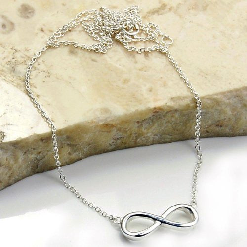 'Infinity' Solid Sterling Silver Necklace - The Silver Plaza