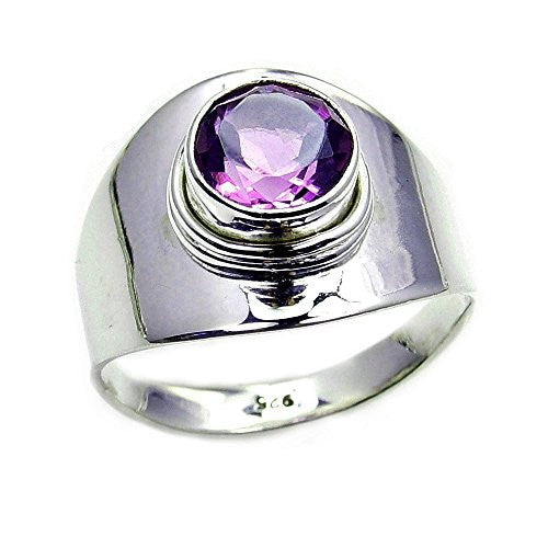 Lovely Sterling Silver Amethyst Ring, Size 8 - The Silver Plaza