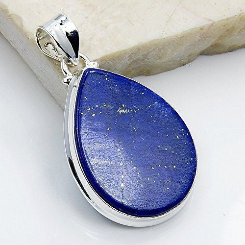 'Midnight Sky' Lapis Lazuli & Sterling Silver Pendant - The Silver Plaza