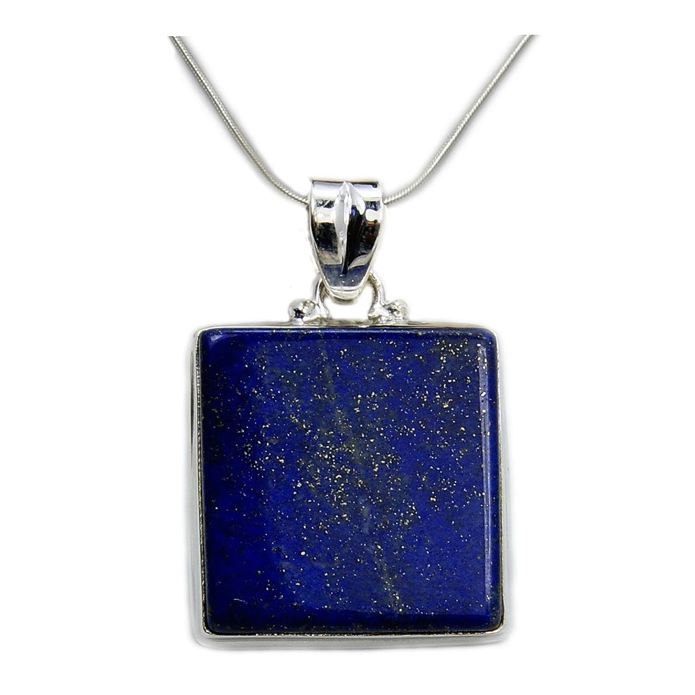 'Midnight Sky' Lapis Lazuli & .925 Sterling Silver Necklace - The Silver Plaza
