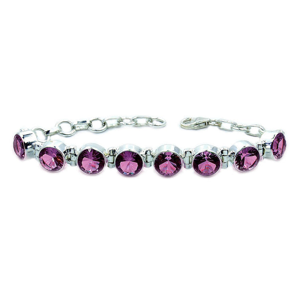 Color Change Alexandrite & Sterling Silver Bracelet - The Silver Plaza