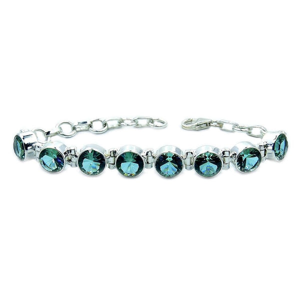 Color Change Alexandrite & Sterling Silver Bracelet