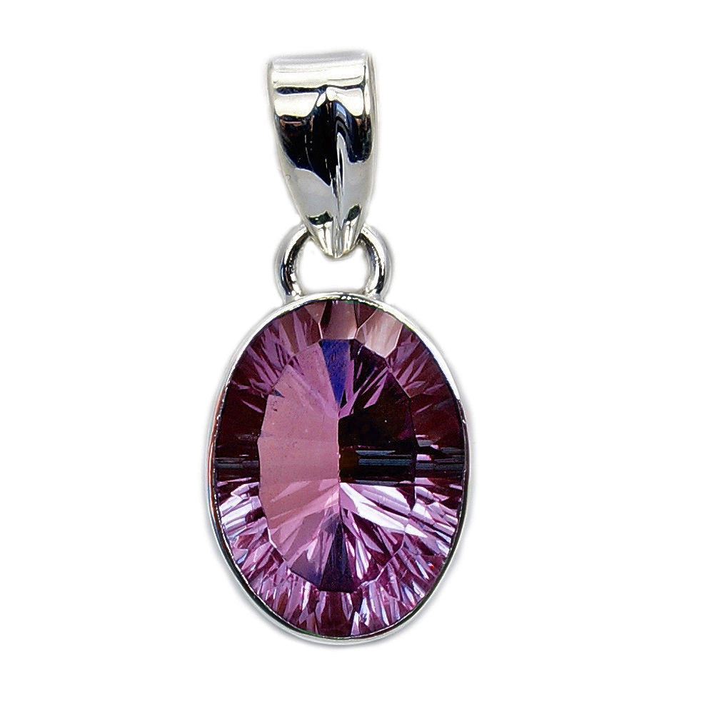 Dazzling Color Change Alexandrite & .925 Sterling Silver Pendant - The Silver Plaza