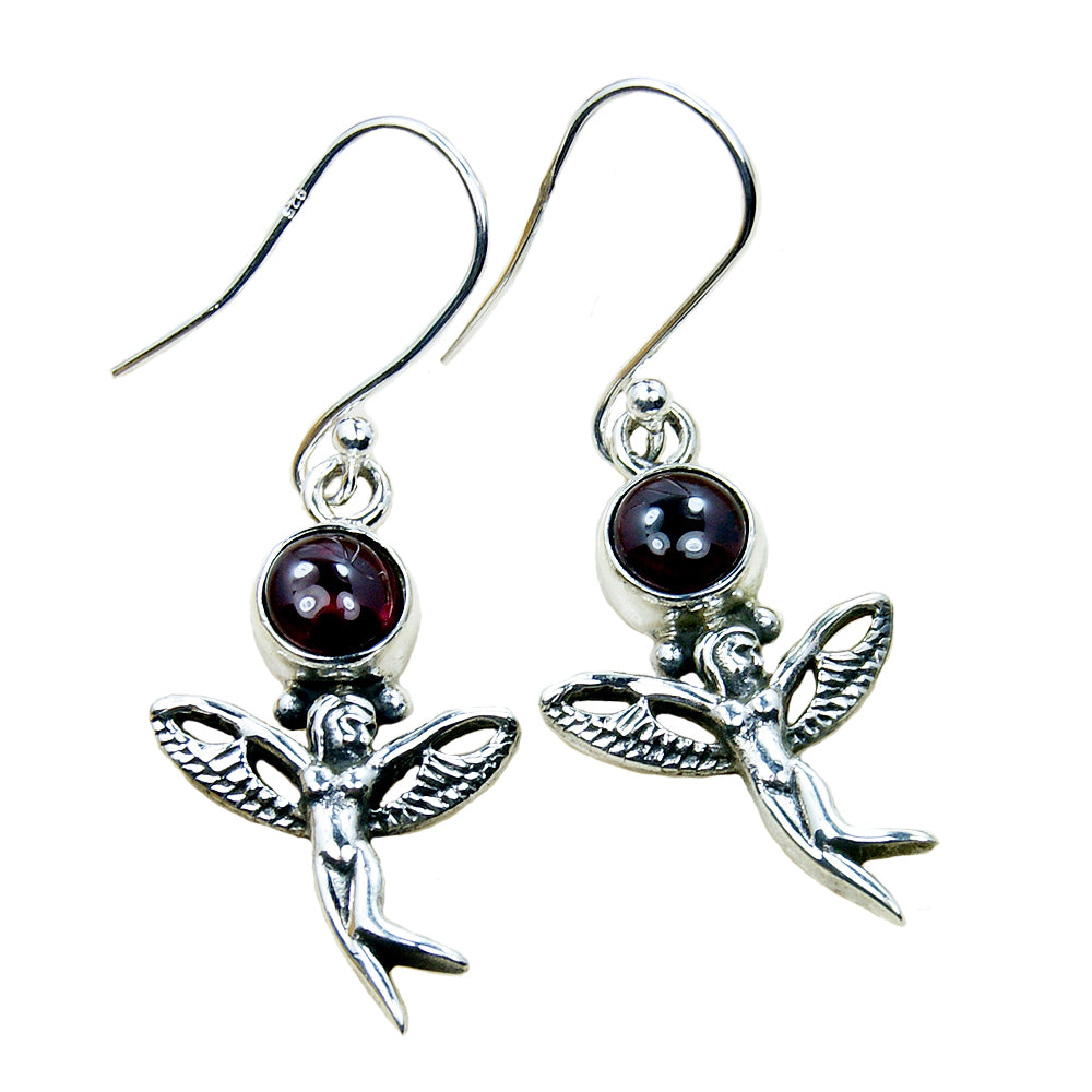 'Angel' Garnet & Sterling Silver Earrings - The Silver Plaza