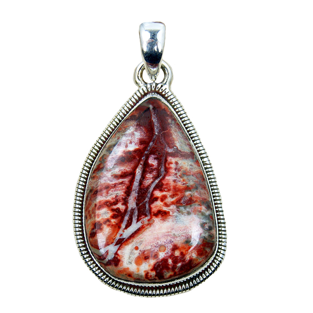 Mexican Crazy Lace Agate & Sterling Silver Pendant
