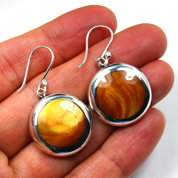 Tiger's Eye & Sterling Silver Earrings