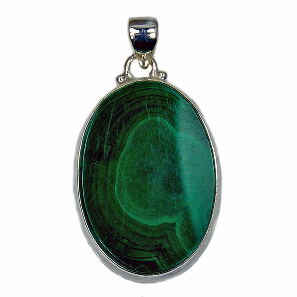 'Forest Wind' Malachite Sterling Silver Pendant