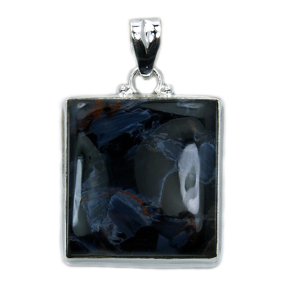 Phenomenal Large Sterling Silver Rare Pietersite Pendant - The Silver Plaza