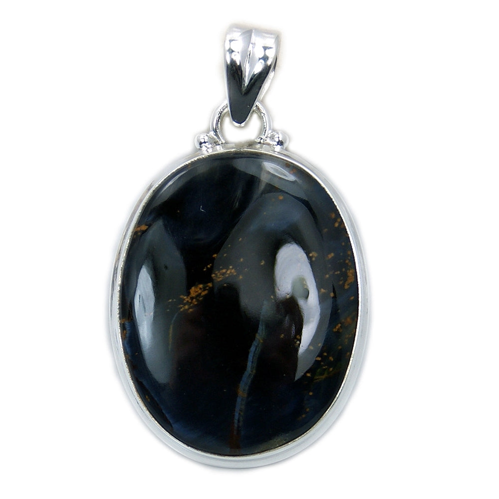 'Queen of the Night' Sterling Silver Rare Pietersite Pendant - The Silver Plaza