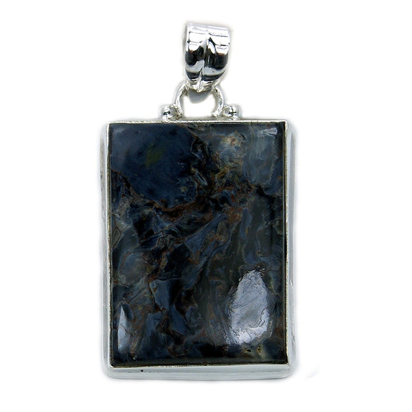 'Nature's Treasure' Sterling Silver Rare Pietersite Pendant - The Silver Plaza