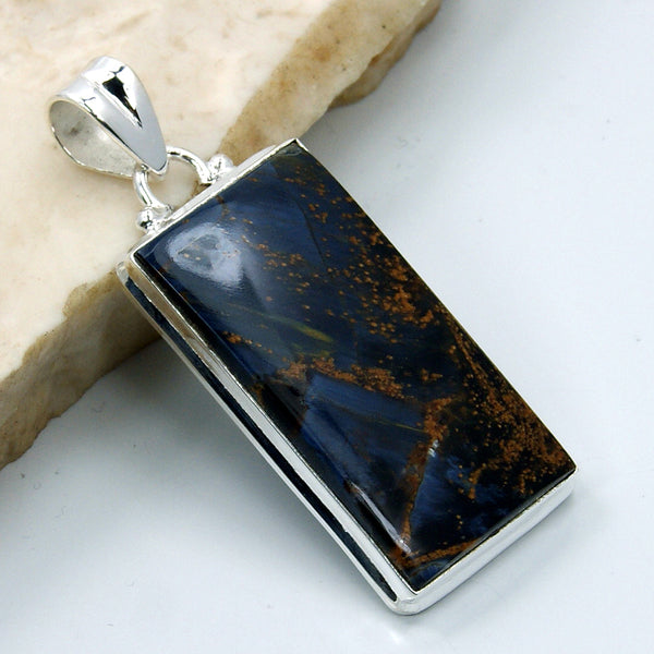 Sterling Silver Rare Pietersite Pendant - The Silver Plaza