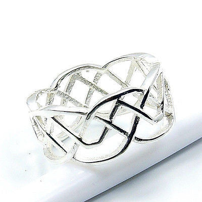 'Flame' .925 Sterling Silver Ring Size 5.5 - The Silver Plaza