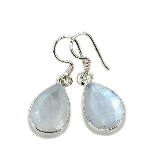 'Shimmering Drops' Sterling Silver Moonstone Dangle Earrings - The Silver Plaza