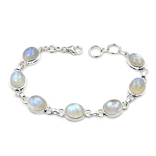 Moonstone & 925 Sterling Silver Bracelet - The Silver Plaza