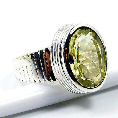 Forever Sunshine Citrine & .925 Sterling Silver Ring Size 6.75 T276 - The Silver Plaza