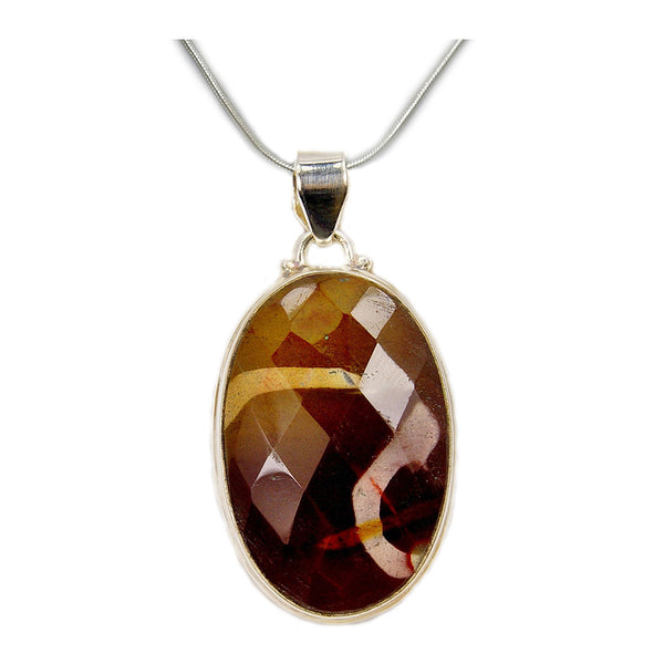 Mookaite & 925 Sterling Silver Necklace - The Silver Plaza