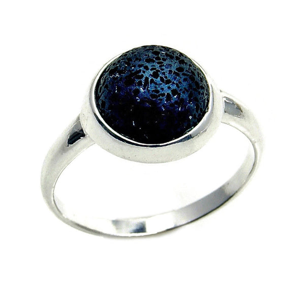 Rare Volcanic Lava Rock & .925 Sterling Silver Ring Size 5.5, 6.5, 7, 7.75, 8 , Ab815, AB782, AB812, AB813, AB814 - Emavera - 1