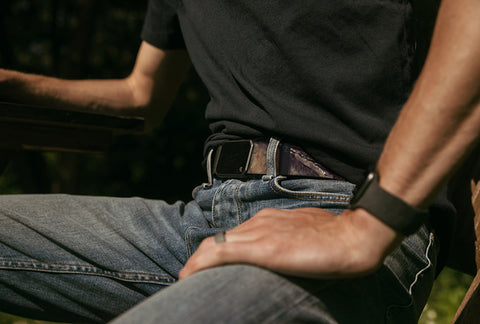 The Groove Belt: comfortable and now available in camouflage