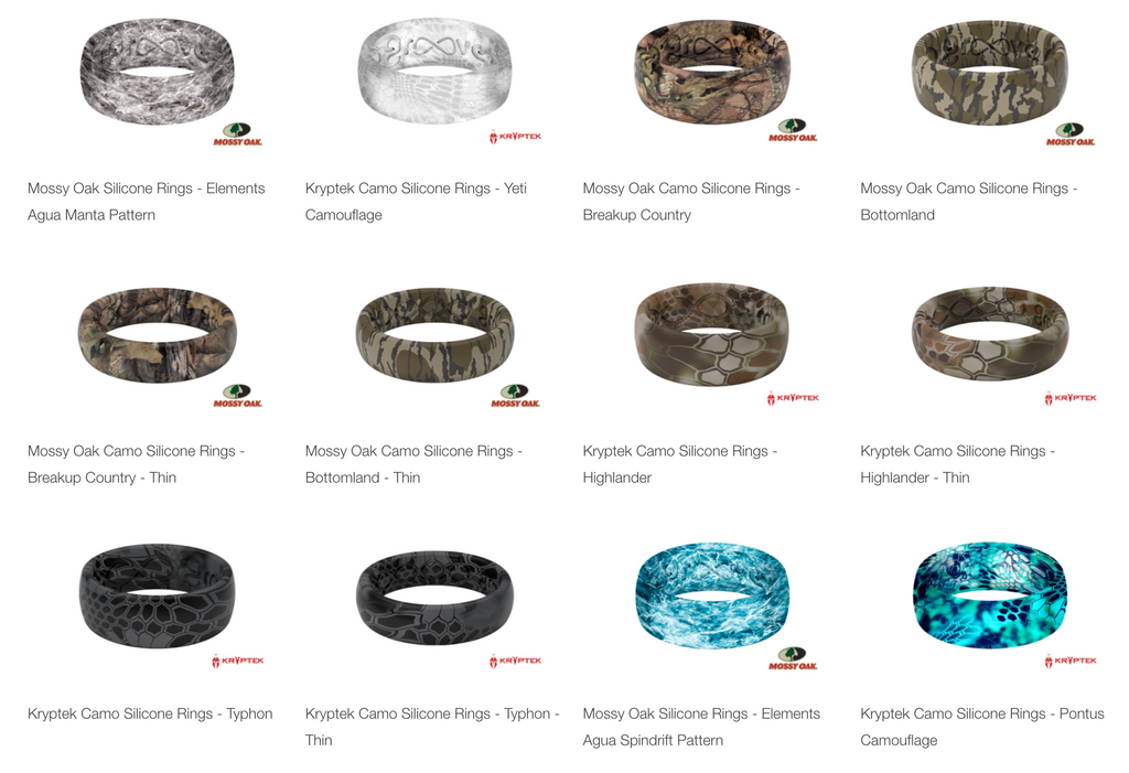 Camo silicone Rings weddingb and