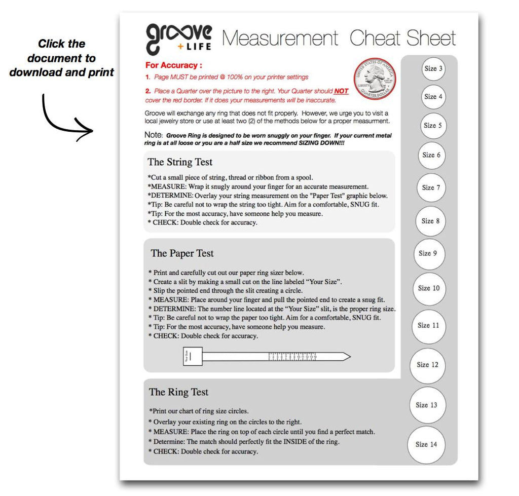 Silicone ring sizing information by groove ring groove life important for silicone ring sizing accuracy page must be printed 100 on your printer settings nvjuhfo Image collections