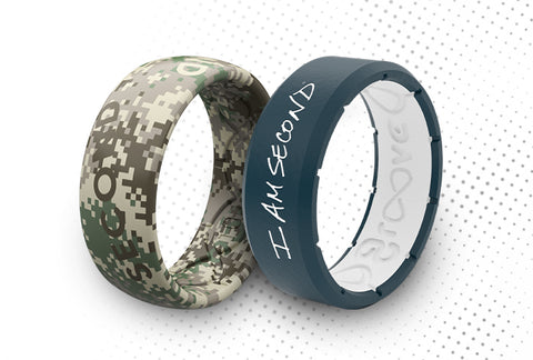 I Am Second silicone breathable rings
