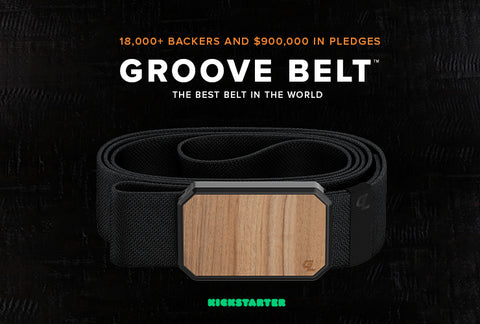 The Groove Belt by Groove Life: most comfortable men's belt