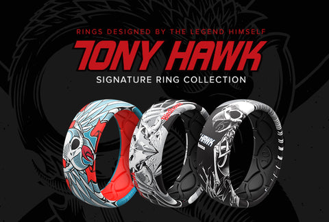 Tony Hawk Signature Ring Collection of silicone rings