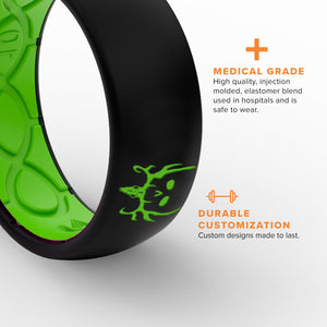 Exclusive Ring Features, Medical Grade, Breathable Grooves, Durable Customization, and Comfort Fit
