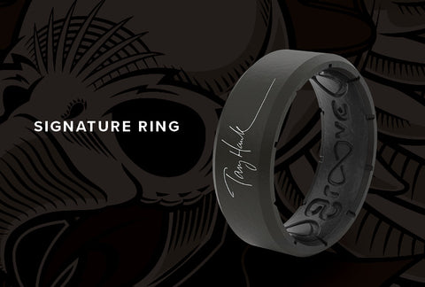Tony Hawk Signature breathable silicone Groove Ring