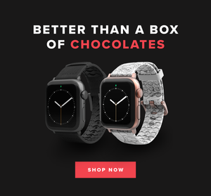 BETTER THAN A BOX OF CHOCOLATES: SHOP NOW BLACK WATCHBAND, WINTER ROSE WATCH BAND