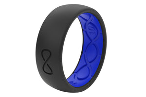 Original Solid Midnight Black/Deep Blue - Groove Life Silicone Wedding Rings