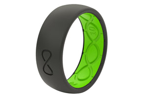 Original Solid Midnight Black/Green - Groove Life Silicone Wedding Rings