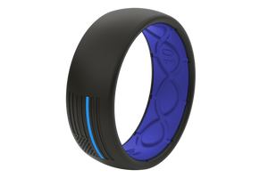 Groove Protector Silicone Ring - Police Blue
