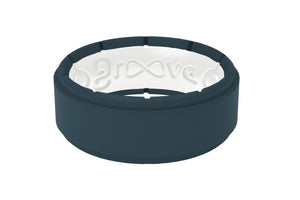 Step Anchor/White - Groove Life Silicone Wedding Rings
