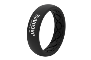 Thin NFL Jacksonville Jaguars Black - Groove Life Silicone Wedding Rings