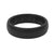 Thin Solid Midnight Black/Black - Groove Life Silicone Wedding Rings
