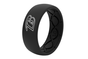 Original NFL Baltimore Ravens Black - Groove Life Silicone Wedding Rings