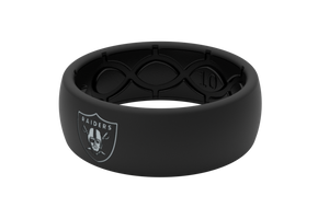 Original NFL Oakland Raiders With Silver Fill - Groove Life Silicone Wedding Rings